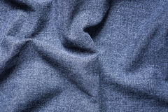 Fondo de Gray Crumpled Jeans Cloth azul imagenes de archivo