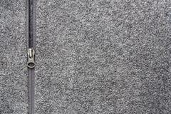 Fondo de Grey Fleece Fabric With Zipper fotos de archivo