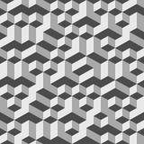 Fondo 002 de Grey Geometric Volume Seamless Pattern Fotos de archivo