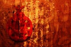 Fondo de Grunge con el Ladybug Fotos de archivo