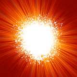 Fondo de Grunge con el modelo de la explosión de la naranja. EPS 8 Fotos de archivo libres de regalías