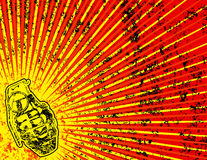 Fondo de Grunge con la granada Imagen de archivo libre de regalías