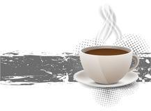 Fondo de Grunge con la taza del coffe Imagen de archivo