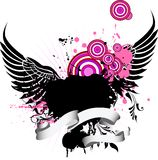 Fondo de Grunge con las alas Ilustración del Vector