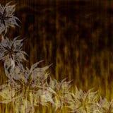 Fondo de Grunge con las flores Foto de archivo libre de regalías