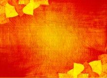 Fondo de Grunge con las hojas de otoño Fotos de archivo libres de regalías
