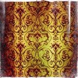 Fondo de Grunge con los ornamentos florales Imagenes de archivo