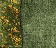 Fondo de Grunge con los ornamentos florales Imagen de archivo