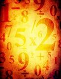 Fondo de Grunge con números Imagen de archivo libre de regalías