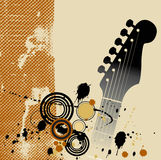 Fondo de Grunge de la guitarra Imagenes de archivo