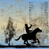 Fondo de Grunge del gaucho Fotografía de archivo libre de regalías