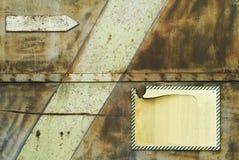 Fondo de Grunge, oxidado, con la flecha Imagen de archivo libre de regalías