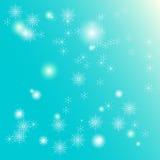 Fondo de hadas del invierno de los copos de nieve Fotografía de archivo libre de regalías