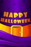 Fondo de Halloween con el sombrero de la bruja libre illustration