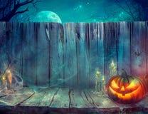 Fondo de Halloween con la calabaza imagenes de archivo