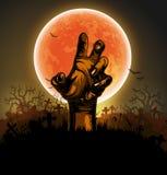 Fondo de Halloween con la mano stock de ilustración