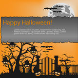Fondo de Halloween, ejemplo del vector libre illustration
