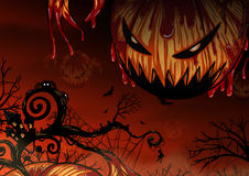 Fondo de Halloween que dibuja a mano Fotografía de archivo