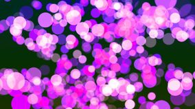 Fondo de HD Loopable con el bokeh magenta agradable metrajes