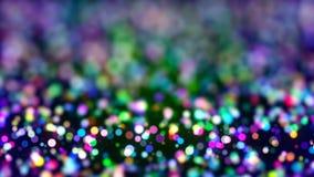 Fondo de HD Loopable con las luciérnagas coloridas agradables almacen de video