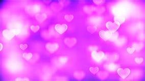 Fondo de HD Loopable con los corazones rosados abstractos agradables del vuelo stock de ilustración