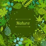 Fondo de hojas verdes estilizadas Foto de archivo