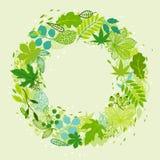Fondo de hojas verdes estilizadas Fotografía de archivo libre de regalías