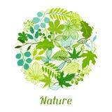Fondo de hojas verdes estilizadas Foto de archivo libre de regalías