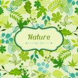 Fondo de hojas verdes estilizadas Imagenes de archivo