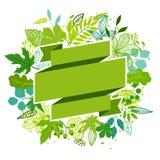 Fondo de hojas verdes estilizadas Fotos de archivo