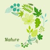Fondo de hojas verdes estilizadas Fotografía de archivo