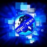 Fondo de Internet del mundo del WWW Imágenes de archivo libres de regalías