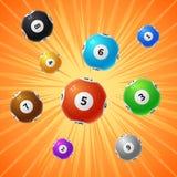 Fondo de juego del vector de las bolas 3d de la lotería del bingo libre illustration