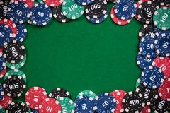 Fondo de juego de la plantilla del póker del casino fotografía de archivo libre de regalías