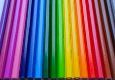 Fondo de lápices multicolores foto de archivo