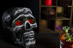 Fondo de la aún-vida de Halloween Fotos de archivo libres de regalías