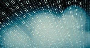 Fondo de la abstracción del código binario Imagenes de archivo