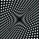 Fondo de la abstracción, líneas negras en el blanco stock de ilustración