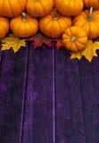 Fondo de la acción de gracias de la calabaza de otoño Foto de archivo