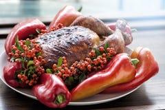 Fondo de la acción de gracias o de la Navidad del día de fiesta Turquía Imagenes de archivo
