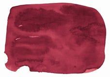 Fondo de la acuarela de colores de moda del rojo persa con las fronteras y los divorcios agudos Manchas del cepillo de la acuarel stock de ilustración