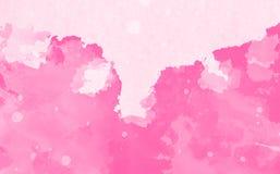 Fondo de la acuarela de la rosa del rosa Foto de archivo libre de regalías