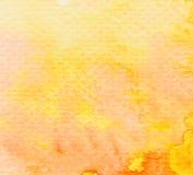 Fondo de la acuarela del amarillo anaranjado de Brown Fotos de archivo