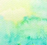 Fondo de la acuarela del verde vivo Imagen de archivo