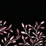 Fondo de la acuarela Imagen de la flor foto de archivo