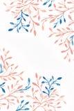Fondo de la acuarela Imagen de la flor imágenes de archivo libres de regalías
