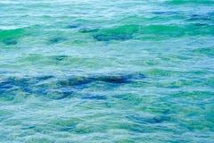 Fondo de la agua de mar Fotografía de archivo