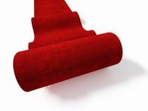 Fondo de la alfombra roja Imágenes de archivo libres de regalías
