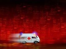Fondo de la ambulancia Fotografía de archivo libre de regalías