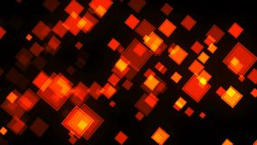 Fondo de la animación con los cuadrados Representación de Digitaces 3d metrajes